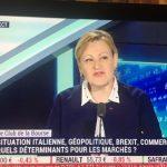 Valérie Plagnol invitée du «Club de la Bourse» le 10 mai sur BFM Business